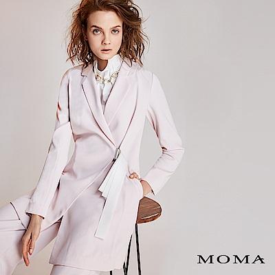 MOMA 粉調中長版西裝外套