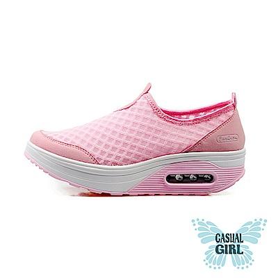 Casual Girl「樂遊女孩」網布氣墊健走鞋 (粉色)
