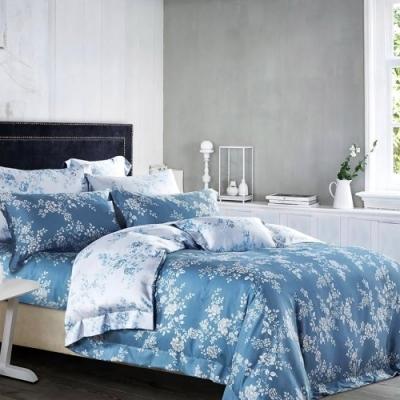 Saint Rose頂級精緻100%天絲床罩八件組(包覆高度35CM)-雙色羅曼史 雙人