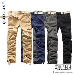 可樂思 外貿款 多口袋 工裝褲 軍裝褲 工作褲 男生休閒褲
