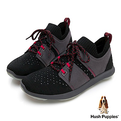 Hush Puppies Bounce Max 高效彈力休閒女鞋-黑灰