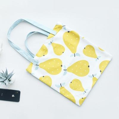【素包包】好好看文藝清新水果印花購物手提袋