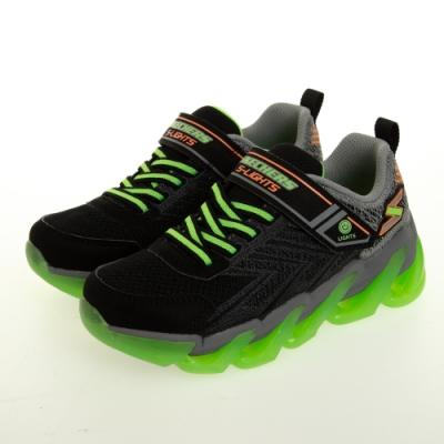 SKECHERS 男童系列 MEGA SURGE 燈鞋 - 400130LBKLM