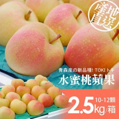 築地一番鮮-日本青森代表TOKI水蜜桃蘋果禮盒1盒(10-12顆/盒/2.5kg±10%)