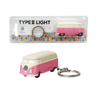 Dreams VW福斯授權LED小巴士鑰匙圈- 粉