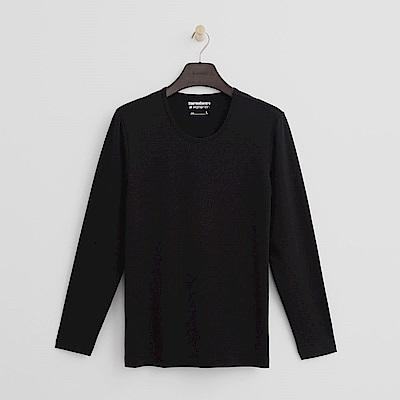 Hang Ten - 男裝 - ThermoContro系列-舒適保暖圓領上衣-黑