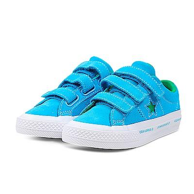 CONVERSE-ONE STAR中大童鞋-水藍