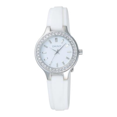 DKNY 簡約優雅時尚腕錶-白(NY8144)30mm