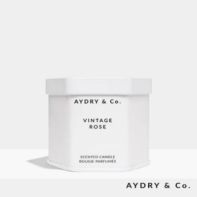 美國 AYDRY & CO. 復古玫瑰 天然手工香氛 極簡純白錫罐 99g
