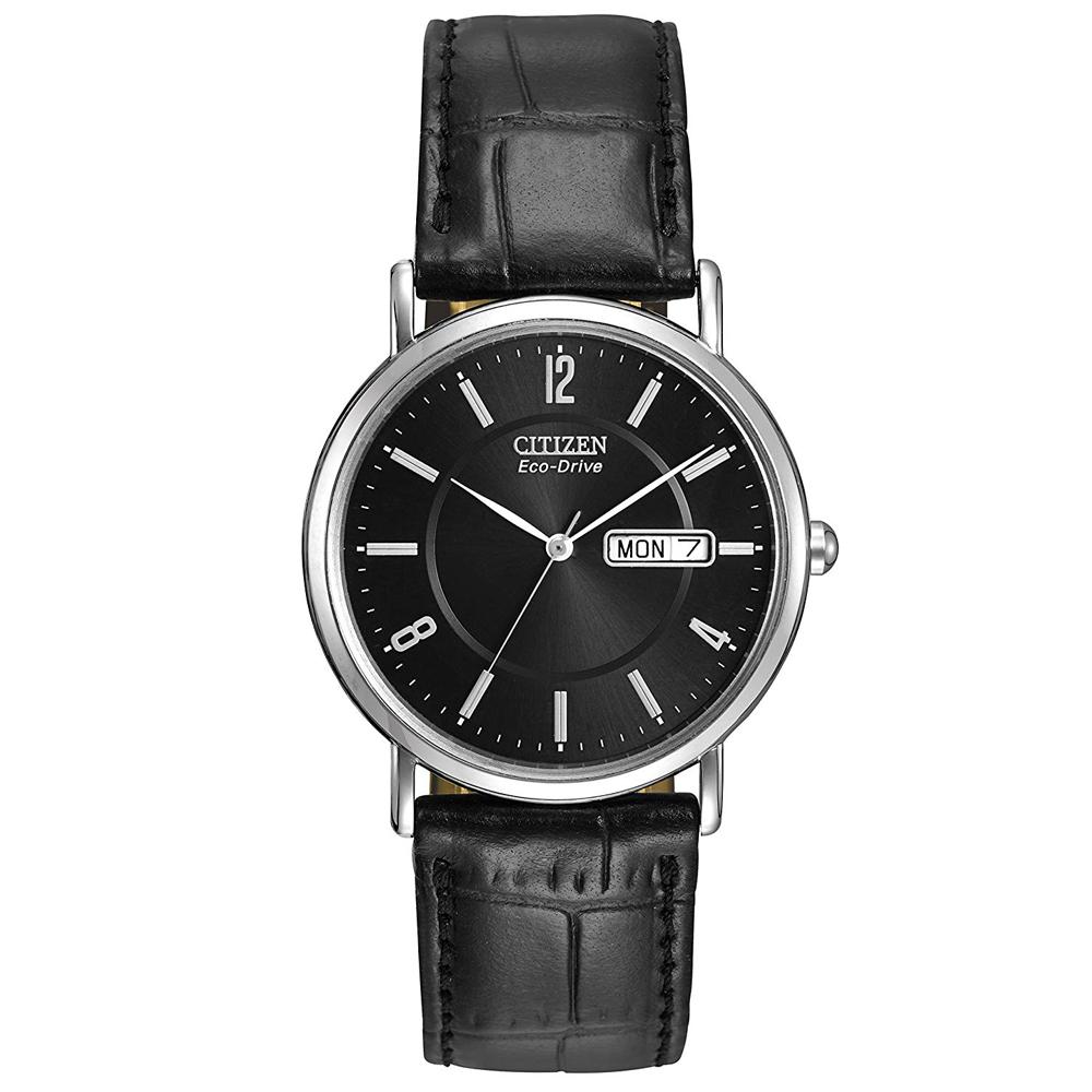 CITIZEN 英挺帥氣光動能石英腕錶(BM8240-03E)-黑x36mm
