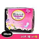 日本一番 婦女失禁護墊30cm 多量型(170cc)-16片/包x4包組