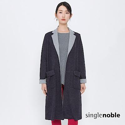 獨身貴族 荒漠旅人翻領長版羊毛外套(2色)