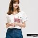 H:CONNECT 韓國品牌 女裝 -圓領簡約字樣T-Shirt-白 product thumbnail 1
