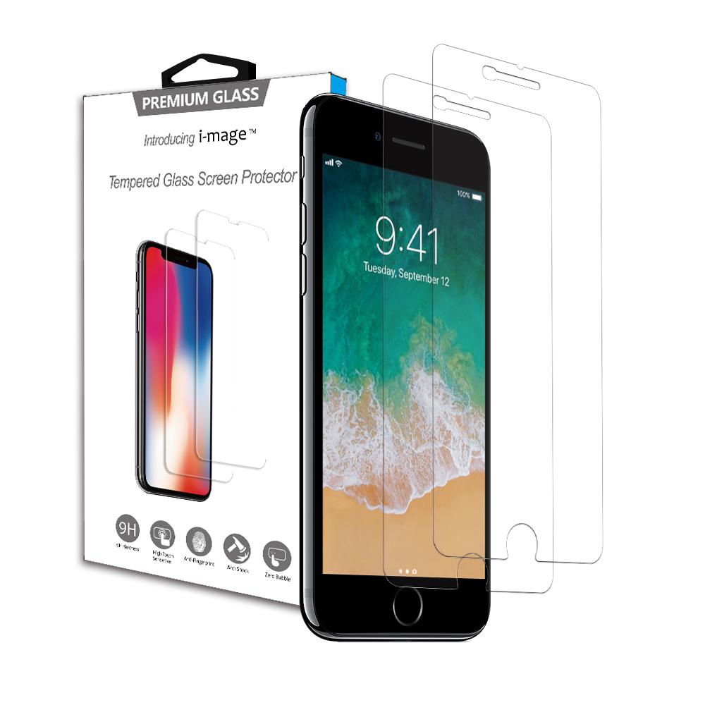 2片裝 超耐滑日本大金防指紋塗層 iphone鋼化玻璃保護貼i-mage蘋果 5.5吋通用