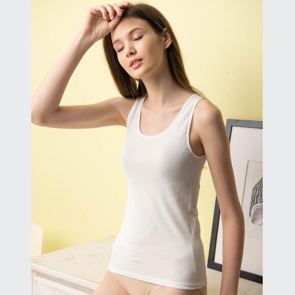 華歌爾-精梳棉 M-LL 背心(白)舒適親膚