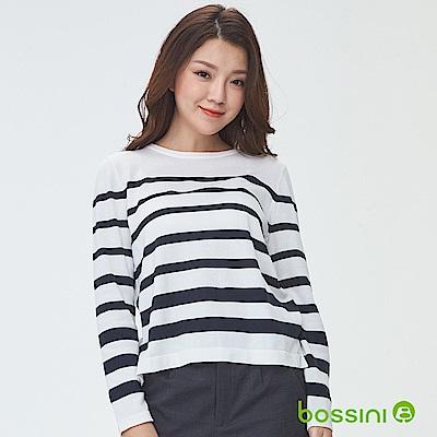 bossini女裝-圓領針織線衫04灰白