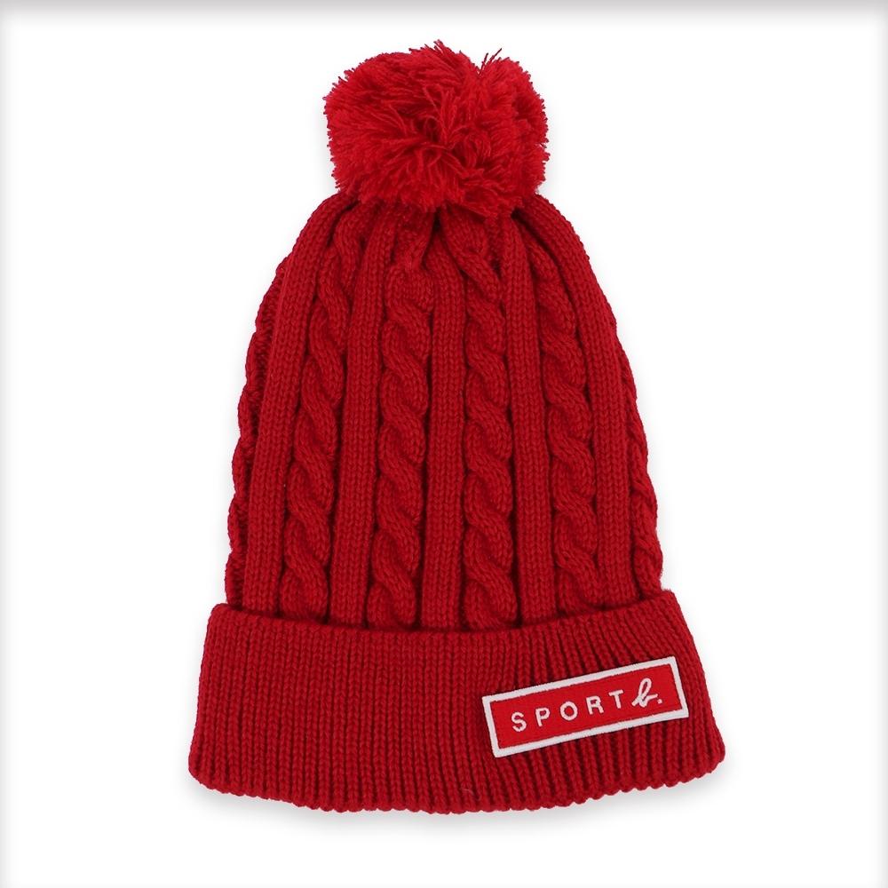 Agnes b. - Sport b. 編織毛帽(女)(紅)
