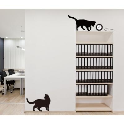 CLI054 ITASTE時鐘貼-優雅黑貓
