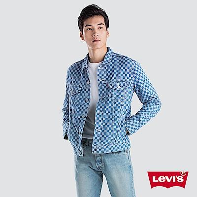 Levis 男款 牛仔外套 Type 3 經典修身版型 棋盤紋