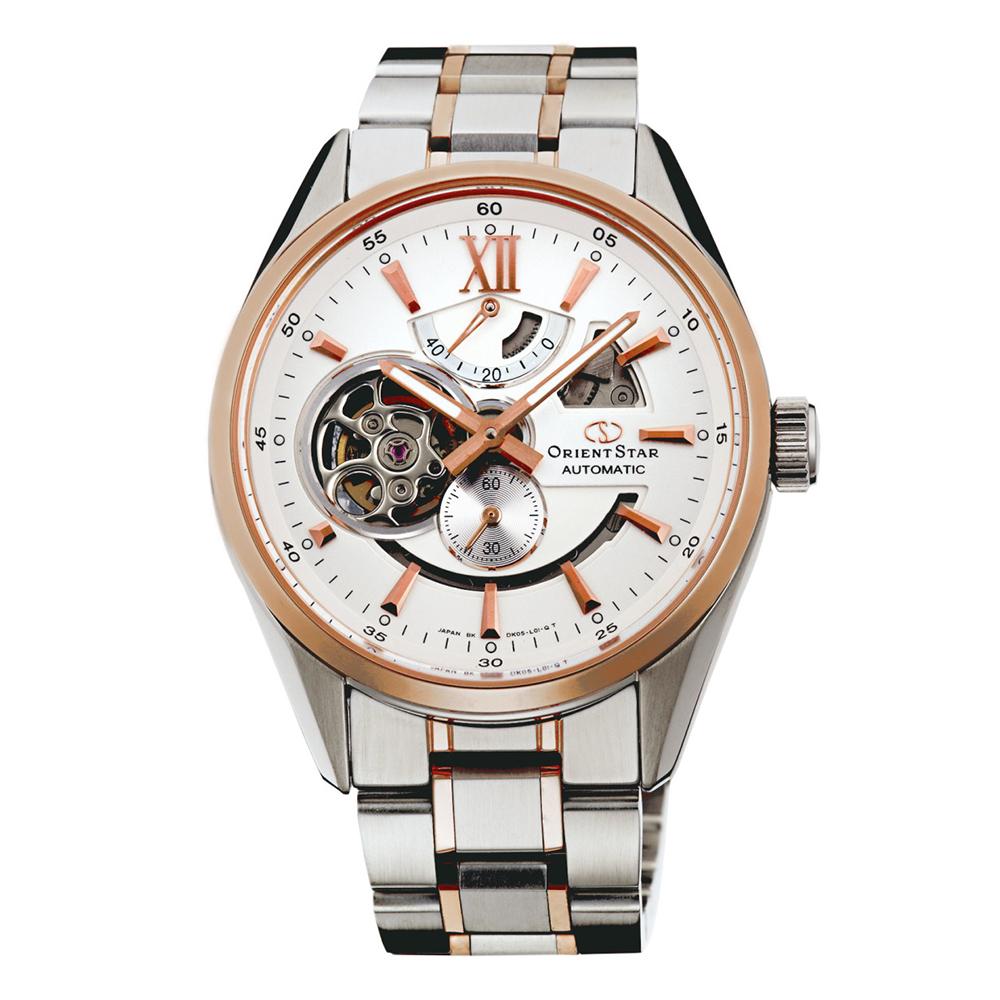 ORIENT  東方之星心懷遼闊鏤空機械錶(SDK05001W0)-白面x41.3mm