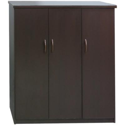 文創集 森活3.2尺塑鋼三門鞋櫃/玄關櫃(八色可選)-97x43x112cm免組