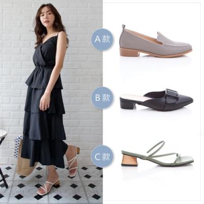 [時時樂限定] ZUCCA夏日新品涼鞋 穆勒鞋款-三款任選