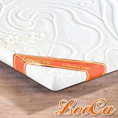 LooCa 溫感塑型3cm緹花記憶床墊-單大3.5尺