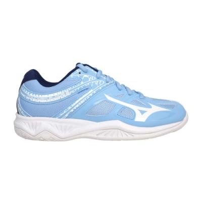 MIZUNO THUNDER BLADE 2 女排球鞋-美津濃 訓練 V1GC197029 粉藍白丈青