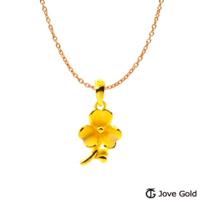 Jove Gold 漾金飾 一束花的祝福黃金墜子 送項鍊