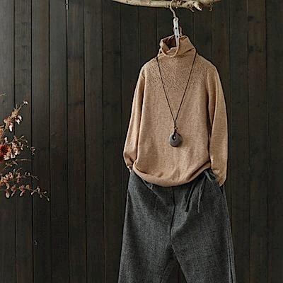 蕾絲鏤空兔絨高領毛衣內搭針織/設計所在/Y2838