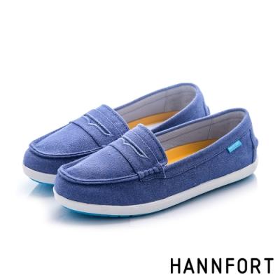 HANNFORT 澳洲 CALIFORNIA經典帆布便士樂福鞋 女 深藍
