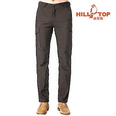 【hilltop山頂鳥】男款Windstopper抗風長褲H31ML3黑咖啡豆