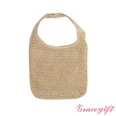 Grace gift-文青麻繩編織包 米