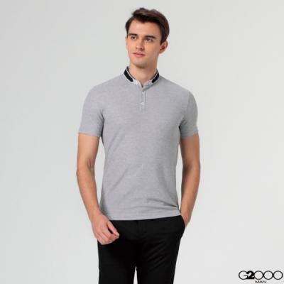 G2000素面網眼短袖T裇-灰色