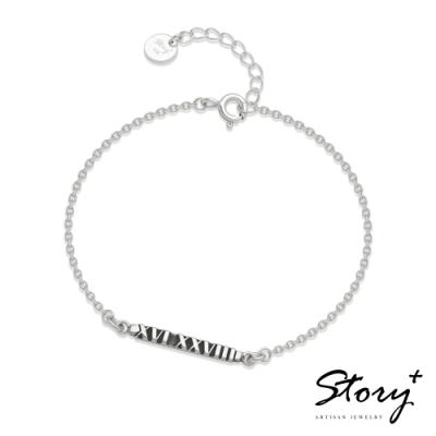 紀念日系列-ONLY ONE訂製純銀手鍊(女款)