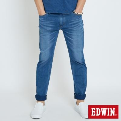 EDWIN 迦績褲JERSEYS棉感AB褲-男-石洗藍