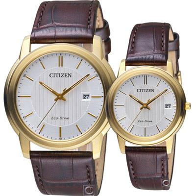 CITIZEN 永恆守候 光動能對錶-42+35mm