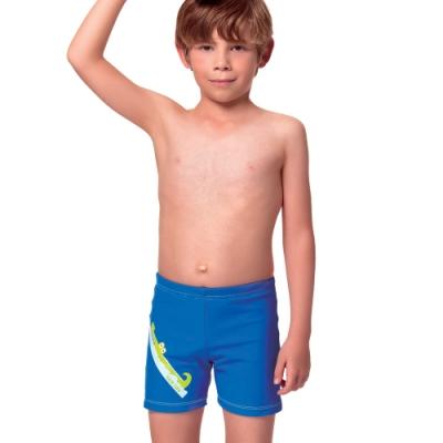 聖手牌 兒童泳裝 水藍卡通虎鯨男童泳褲