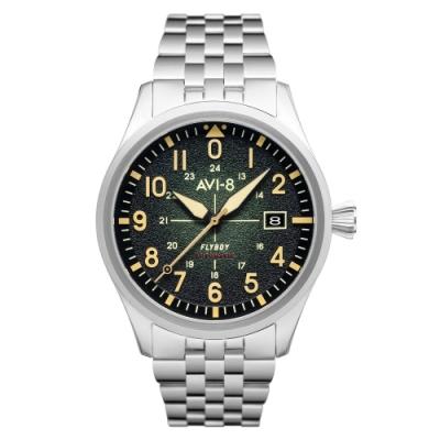 AVI-8 FLYBOY ENGINEER 飛行機械錶-綠/42mm