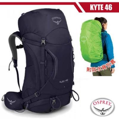 OSPREY 女新款 Kyte 46L 輕量透氣健行登山背包S/M_桑葚紫 R