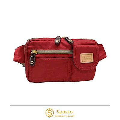 SPASSO 日本同步款 超輕量斜背包腰間包 紅色