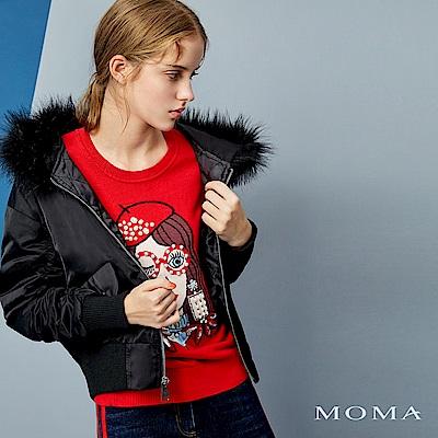 MOMA 毛圈抽繩袖夾克