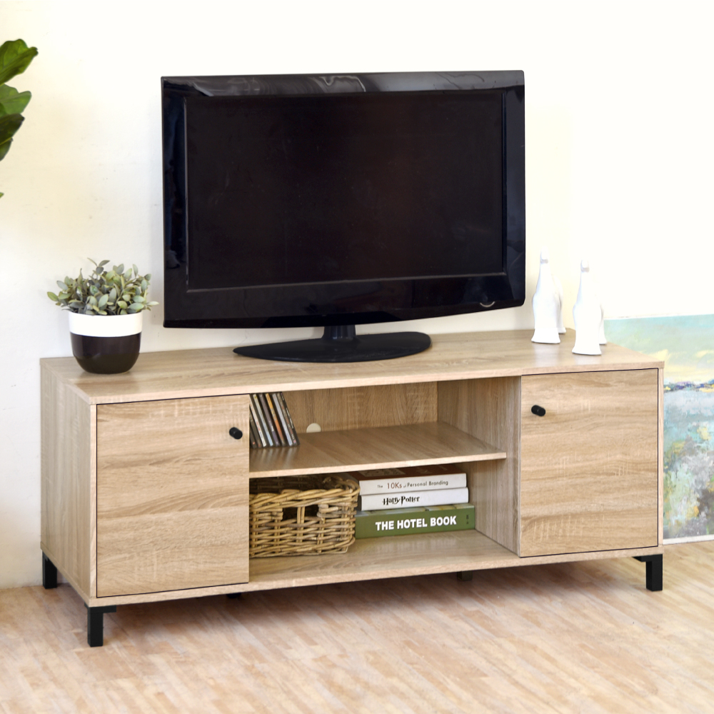 《HOPMA》DIY巧收北歐二門電視櫃-寬120.5 x深40 x高48.5cm