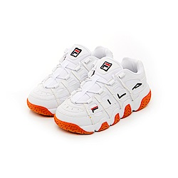 FILA BARRICADE中性復古運動鞋-白色 4-B007T-119
