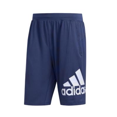 adidas 短褲 運動 休閒 健身 訓練 男款 藍 FL4597 4KRFT Sport Badge Of Spor