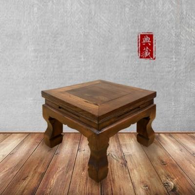 E-home 文藝復興實木彎腿小方凳