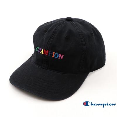 Champion 彩色LOGO棒球帽 黑色