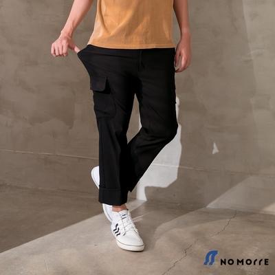 NoMorre 韓版超彈力輕薄直筒休閒工作褲-黑色