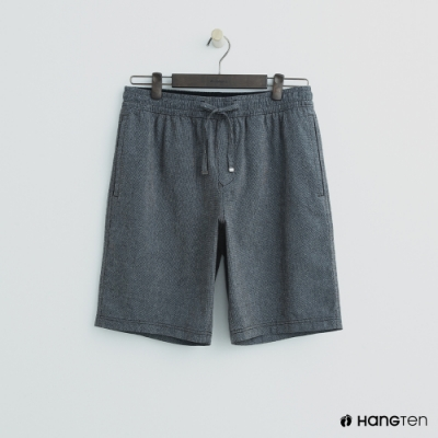 Hang Ten - 男裝 - 鬆緊休閒西裝短褲-灰