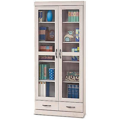 凱曼  瑪姬白栓木2.6尺下抽書櫥/書櫃